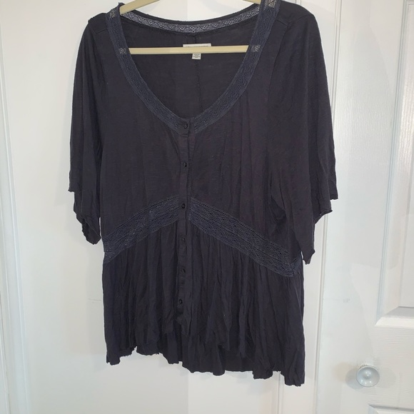 American Eagle Outfitters Tops - Navy loose fitting top